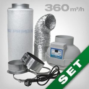 Aktivkohlefilter Lüftungsset inkl. Rohrventilator 230 360 m³h