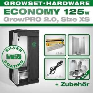 Growbox GrowPRO 2.0 XS - Grow Set für Indoor Homegrow - ESL Grow Set 125W Eco